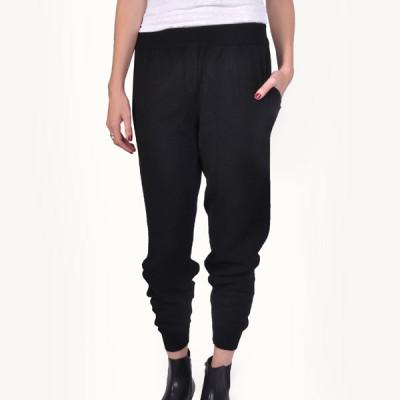 black cashmere track pant
