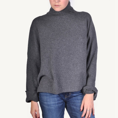 cashmere polo knit
