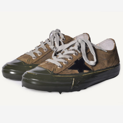 golden goose v-star olive sneaker