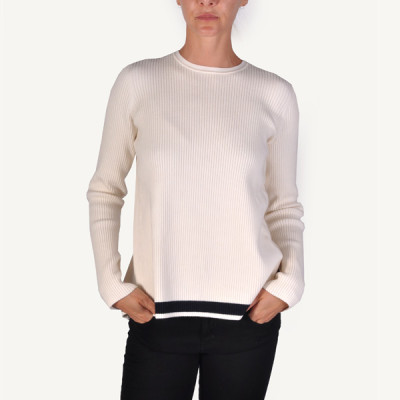 victoria beckham open back rib sweater