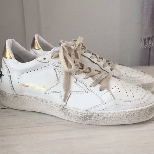 golden goose ball star white