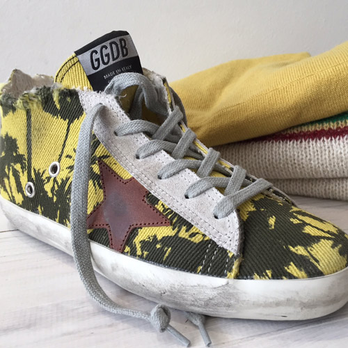 golden goose palm print