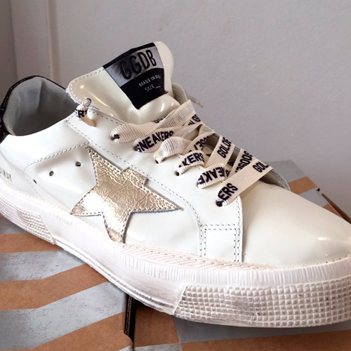 may sneaker leather silver star