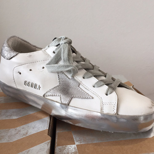 golden goose superstar sparkle white