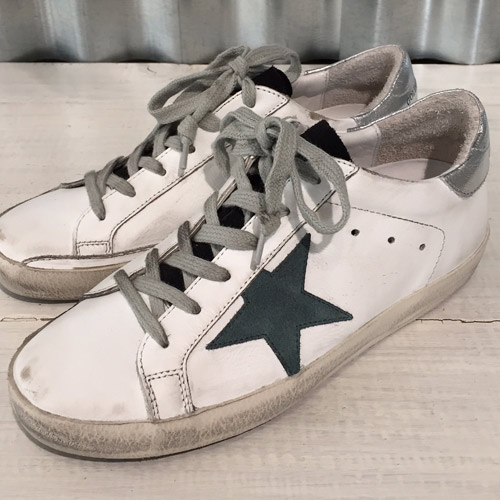 golden goose superstar white petrol star